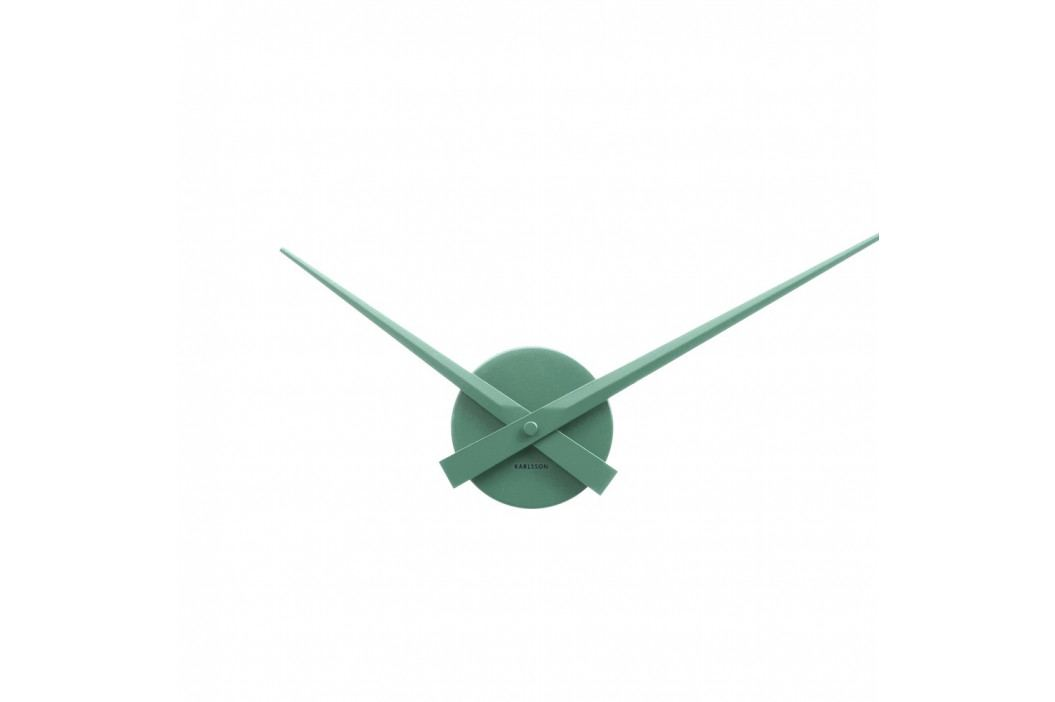 Zelené nástenné hodiny Karlsson Time Mini, Ø 44 cm