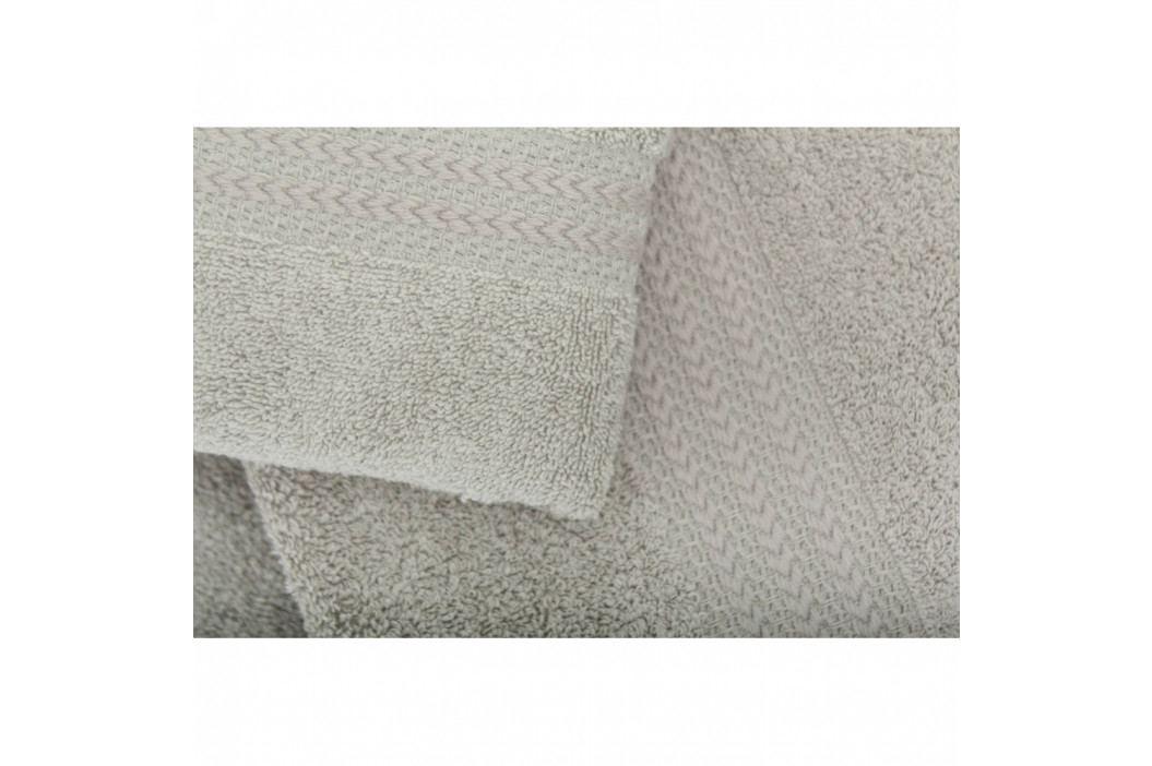 Set 3 sivých bavlnených uterákov a osušky Rainbow