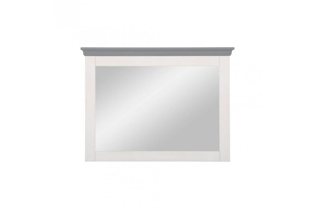 Sivo-biele zrkadlo z borovicového dreva Støraa Monroe