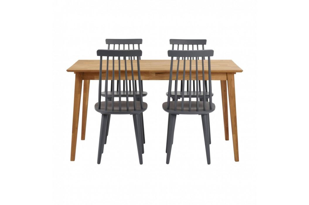 Prírodný dubový jedálenský stôl Folke Mimi, dĺžka 140 cm