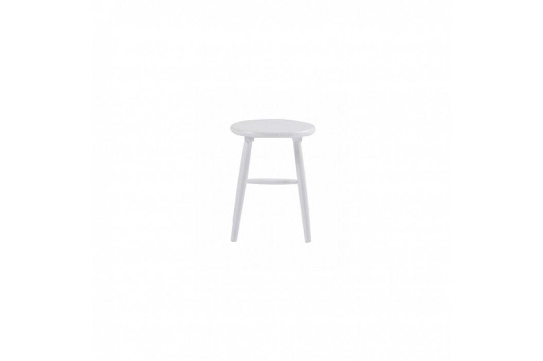 Biela drevená stolička Folke Python, ⌀36 cm