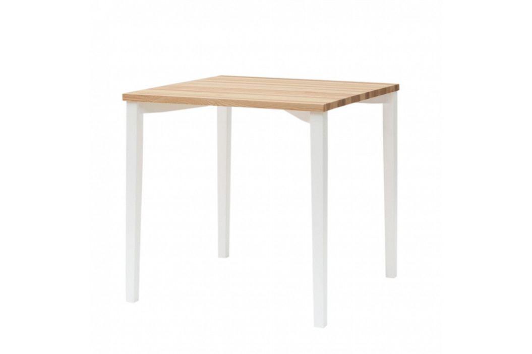 Biely jedálenský stôl Ragaba TRIVENTI, 80×80cm