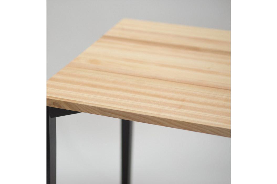Čierny jedálenský stôl so zaoblenými nohami Ragaba TRIVENTI, 80×80cm