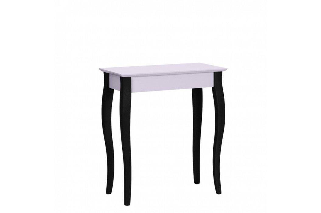 Svetloružový konzolový stolík s čiernymi nohami Ragaba Lilo, šírka65cm