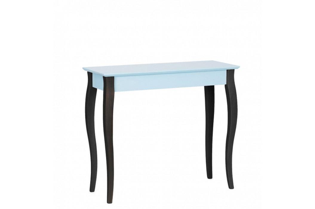Svetlotyrkysový konzolový stolík s čiernymi nohami Ragaba Lilo, šírka85cm