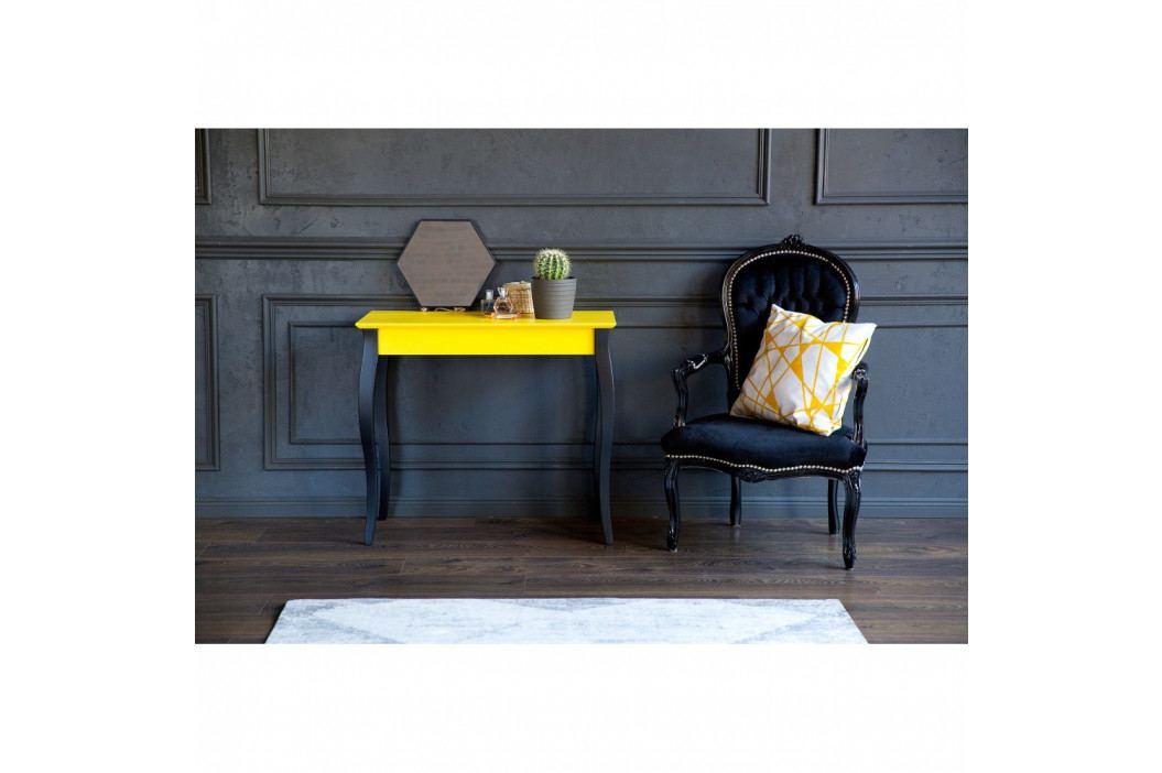 Tmavosivý konzolový stolík s čiernymi nohami Ragaba Lilo, šírka85cm