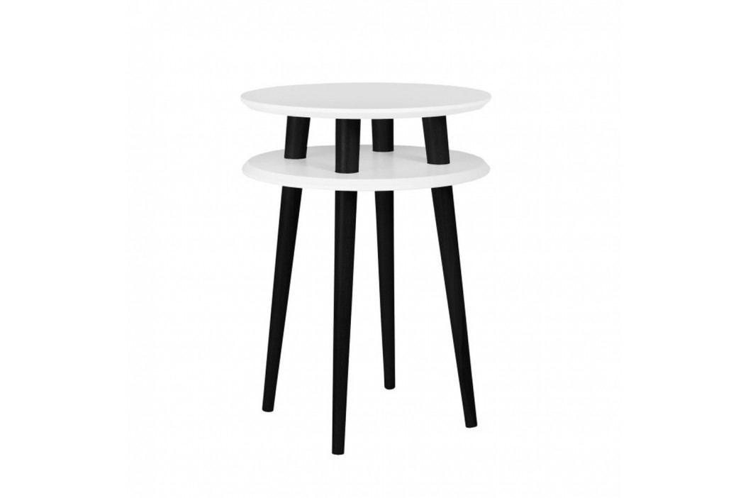 Biely príručný stolík s čiernymi nohami Ragaba UFO, Ø 45cm