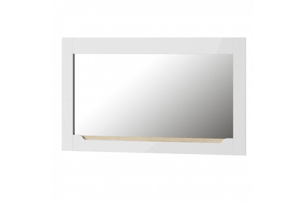 Biele nástenné zrkadlo Szynaka Meble Ice