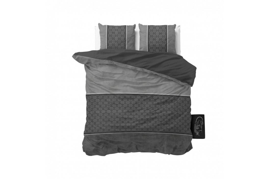 Antracitovosivé obliečky z mikroperkálu Sleeptime Luxury Barock, 160×200cm