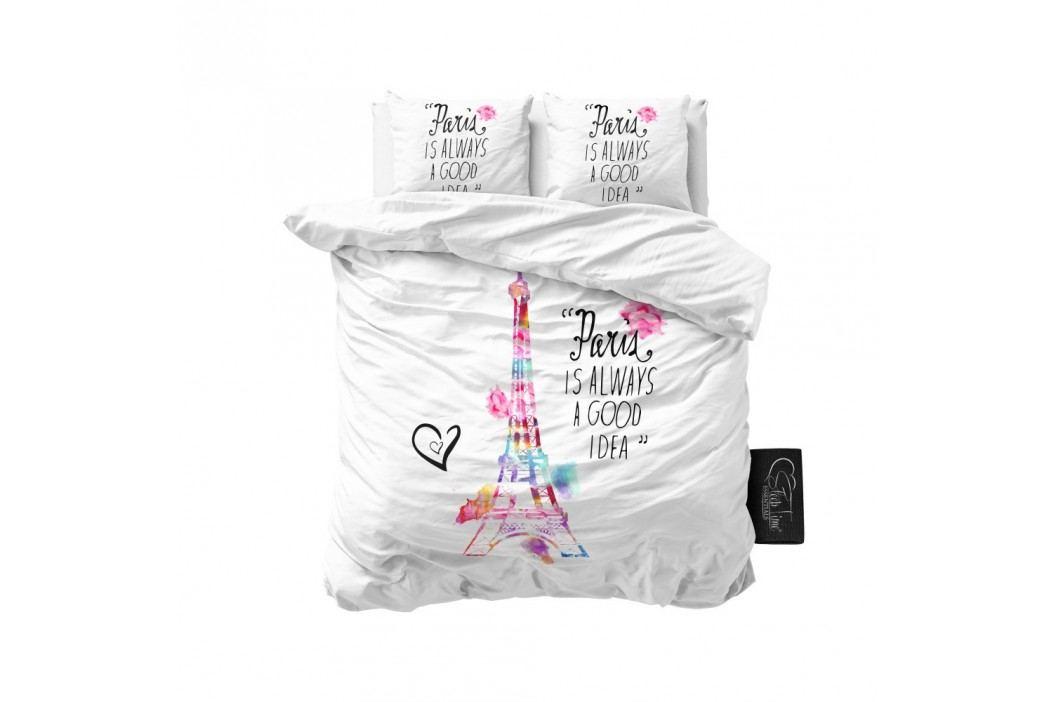 Biele obliečky z mikroperkálu Sleeptime Paris, 240 x 220 cm