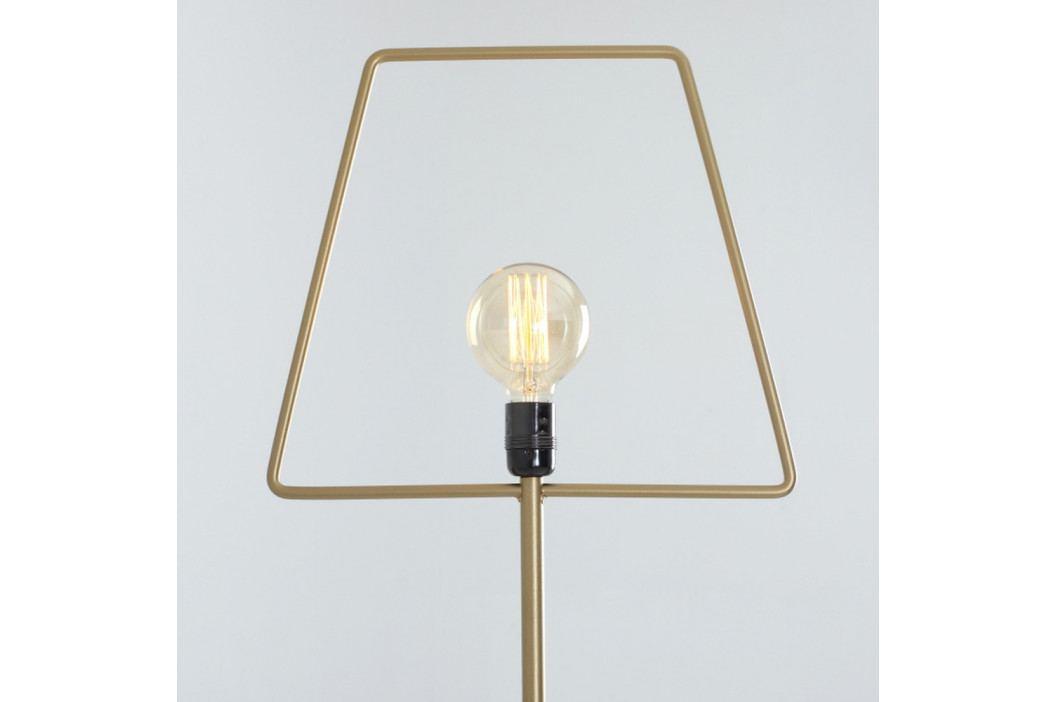 Stojacia lampa v zlatej farbe Custom Form Firkant