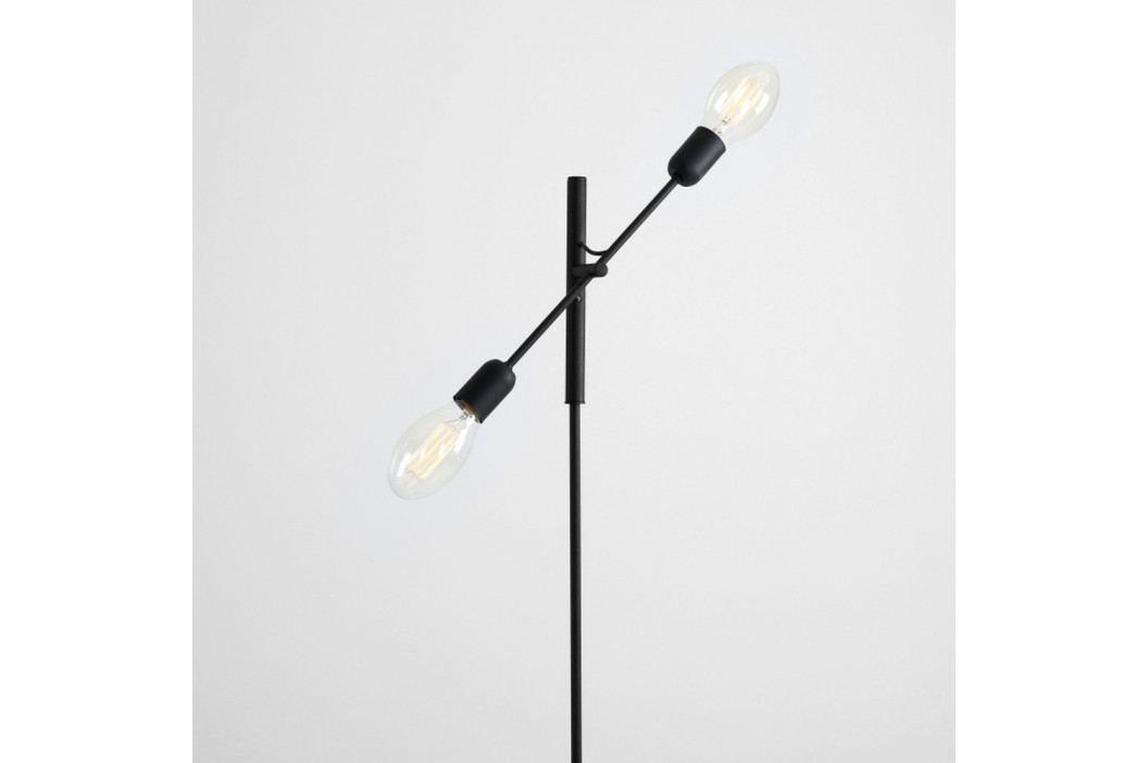Čierna stojacia lampa na 2 žiarovky Custom Form Twigo