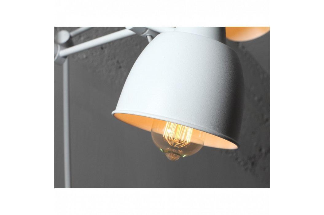 Biela nástenná lampa na 2 žiarovky Custom Form Coben