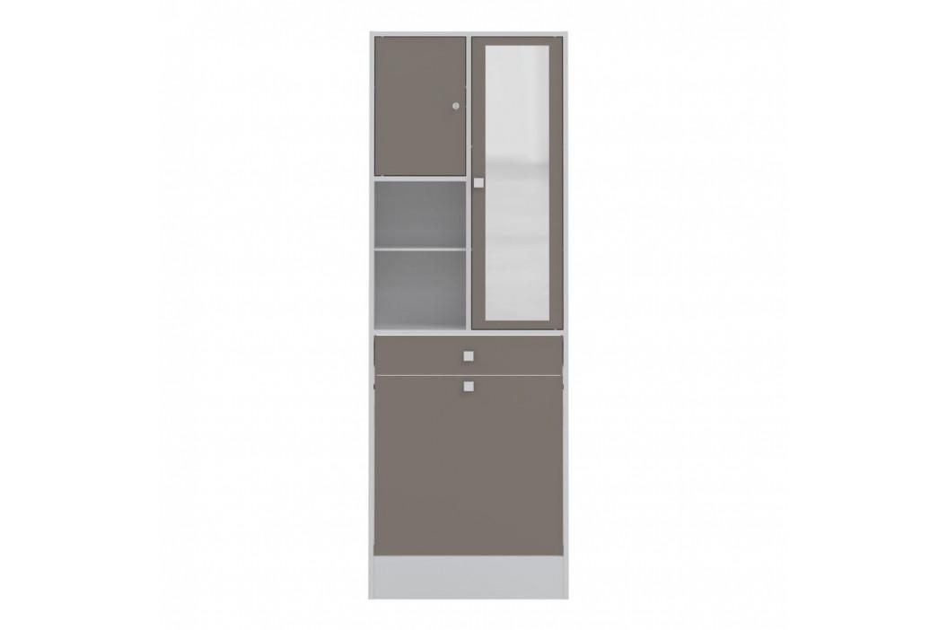 Sivohnedá kúpeľňová skrinka Symbiosis André, šírka 62,6cm