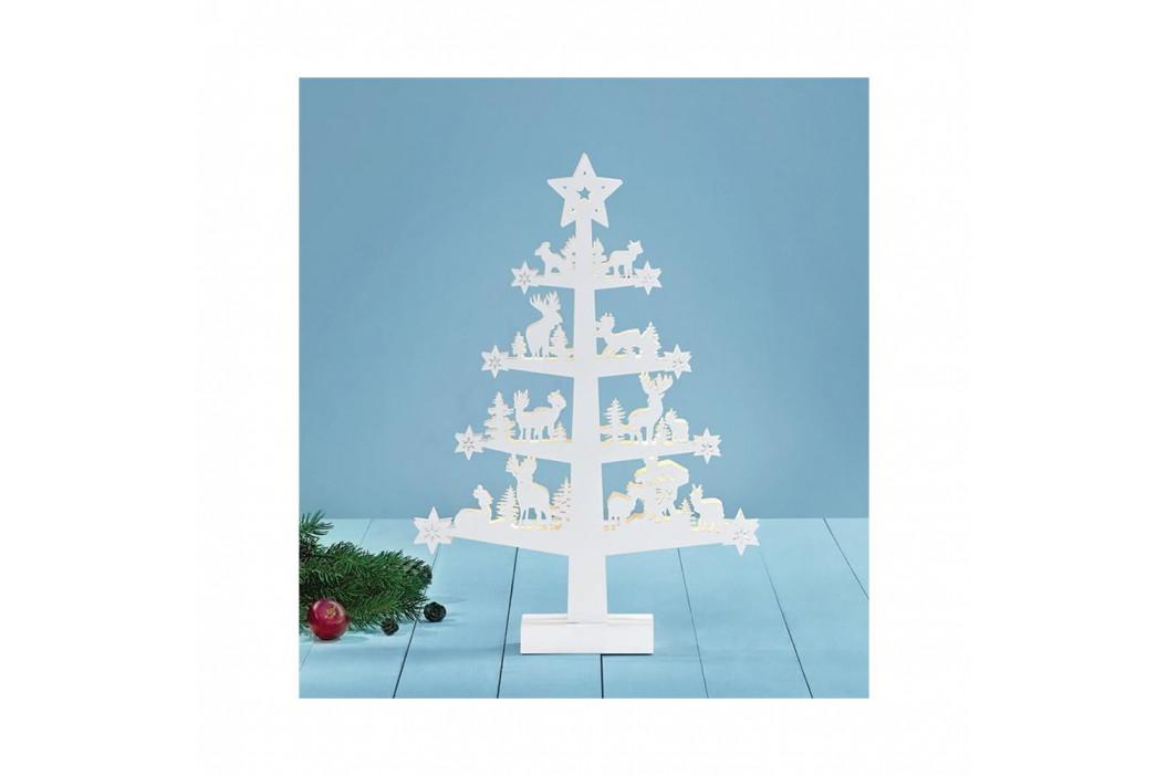 Biela svietiaca dekorácia Markslöjd Prince, výška47cm