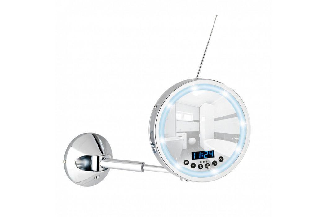 Nástenné kozmetické LED zrkadlo s rádiom Wenko Imperial