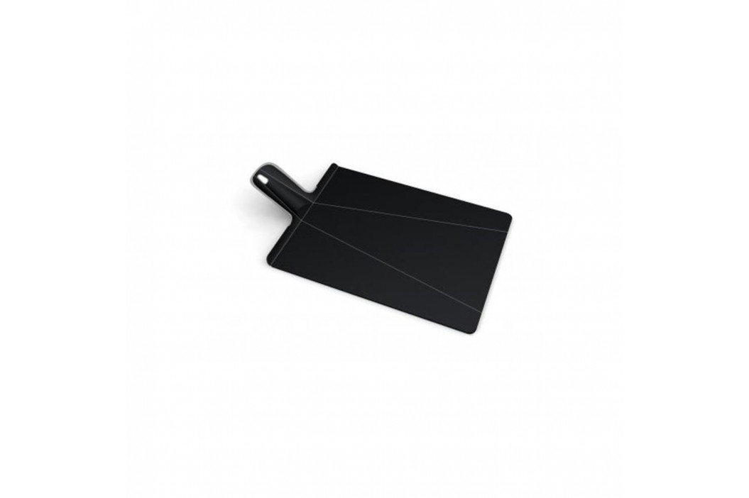 Čierna skladacia doštička Joseph Joseph Chop2Pot Plus, dĺžka48cm