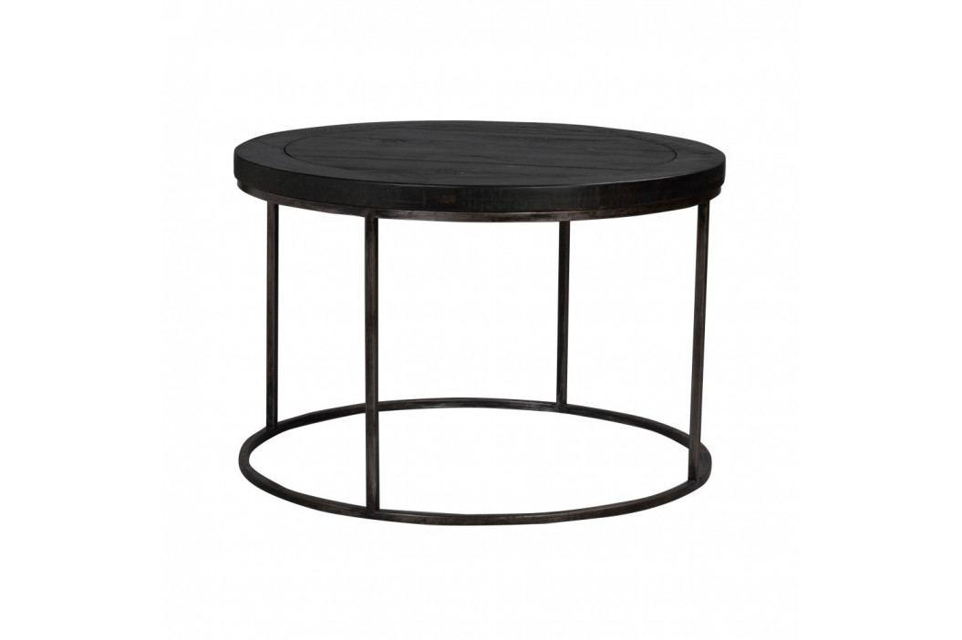 Čierny drevený konferenčný stolík Folke Brogge