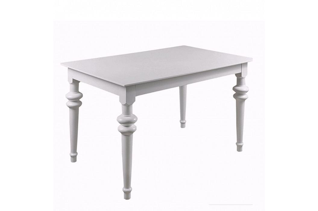 Biely rozkladací jedálenský stôl Durbas Style Torino, 190×95 cm