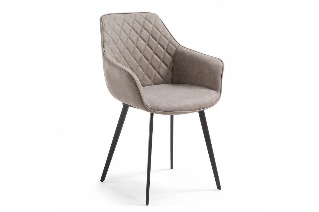 Sivá jedálenská stolička La Forma Amíny