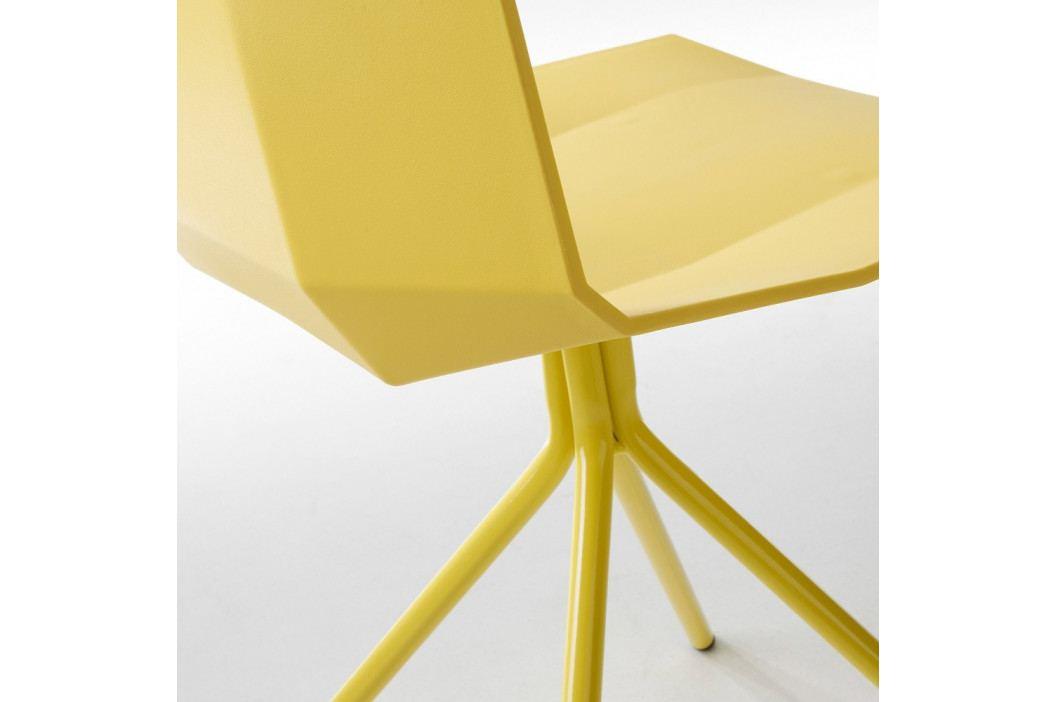 Sada 2 žltých jedálenských stoličiek La Forma Pixel