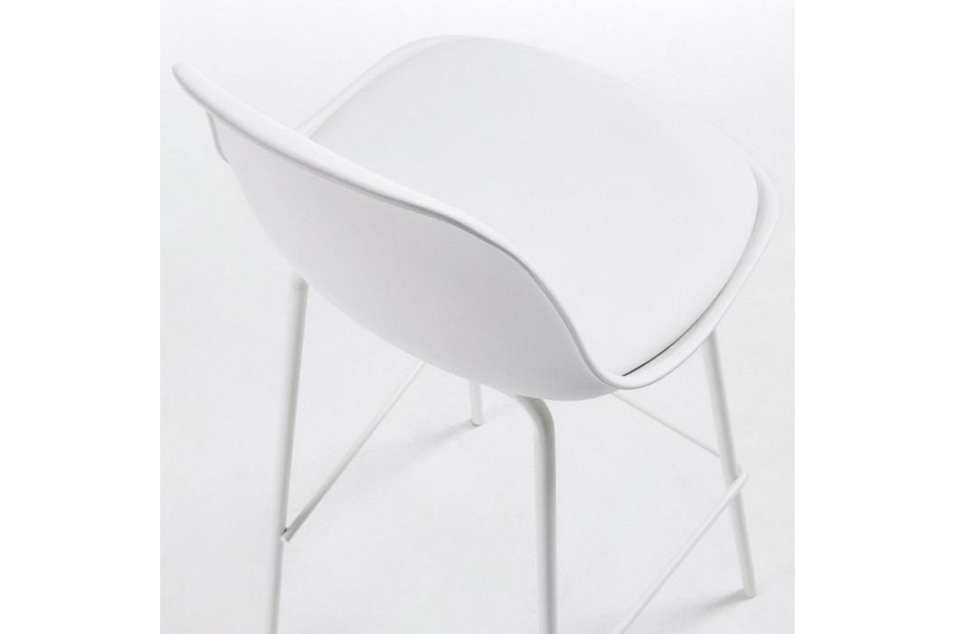 Sada 2 bielych barových stoličiek La Forma Lysna