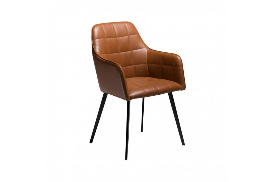 Hnedá koženková stolička DAN-FORM Denmark Embrace Vintage