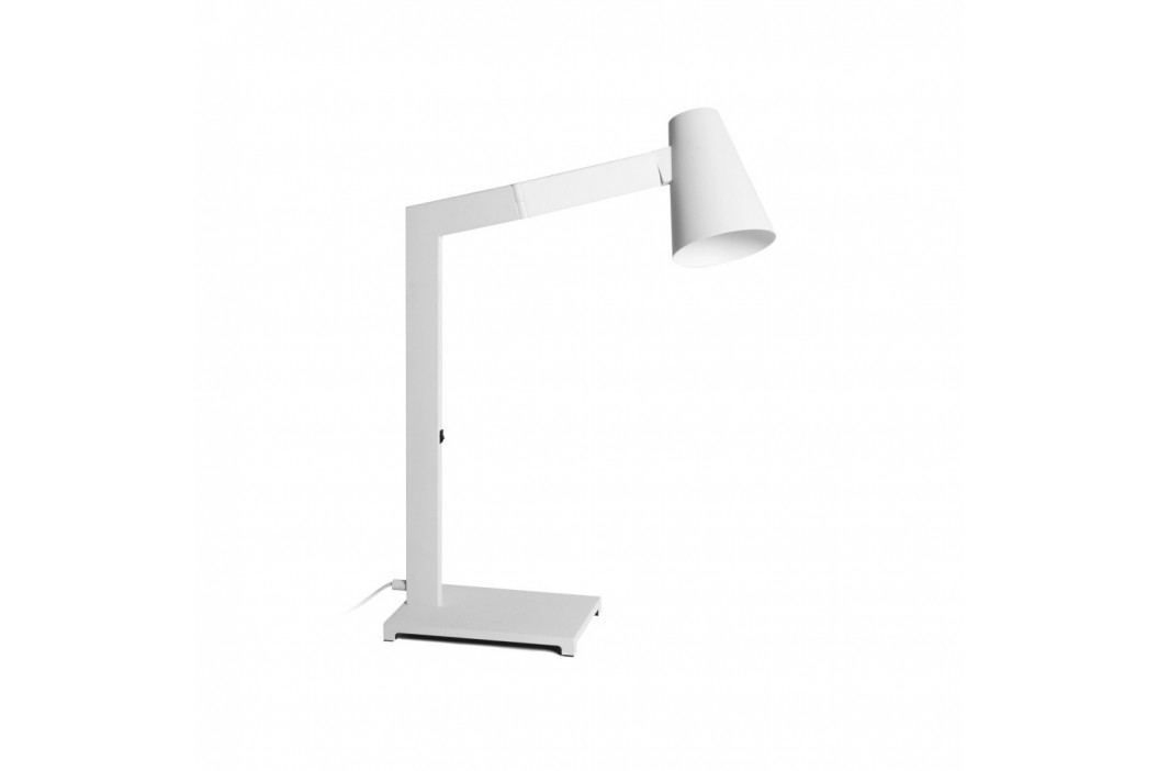Biela stolová lampa Design Twist Fahy