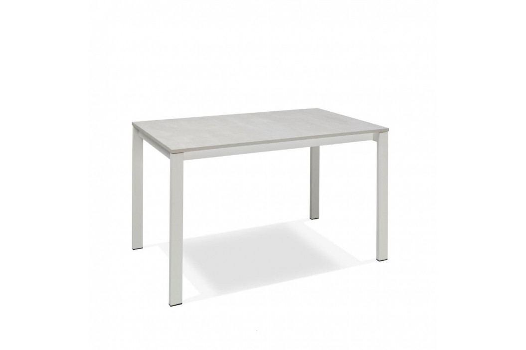 Biely rozkladací jedálenský stôl Design Twist Jian
