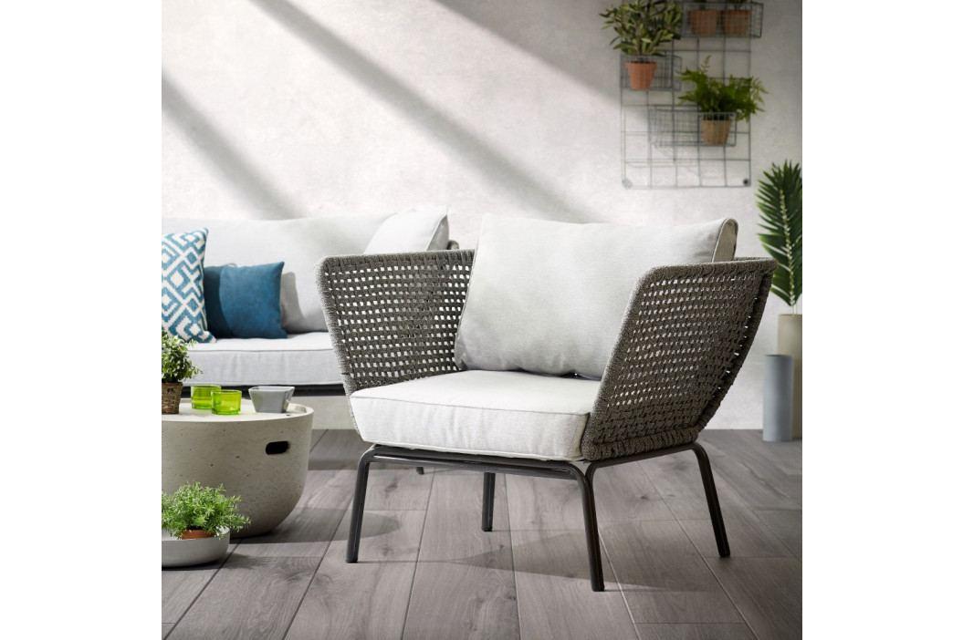 Sivé záhradné kreslo La Forma Bernon