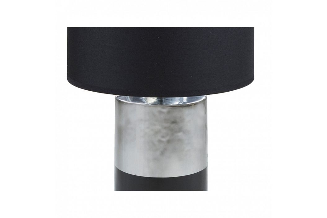 Čierna stolová lampa so základňou v striebornej farbe Santiago Pons Reba, ⌀ 30cm