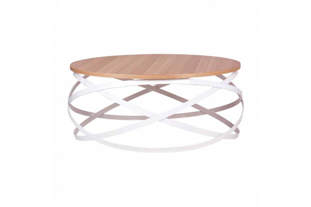 Konferenčný stolík s dekorom svetlého duba sømcasa Dario