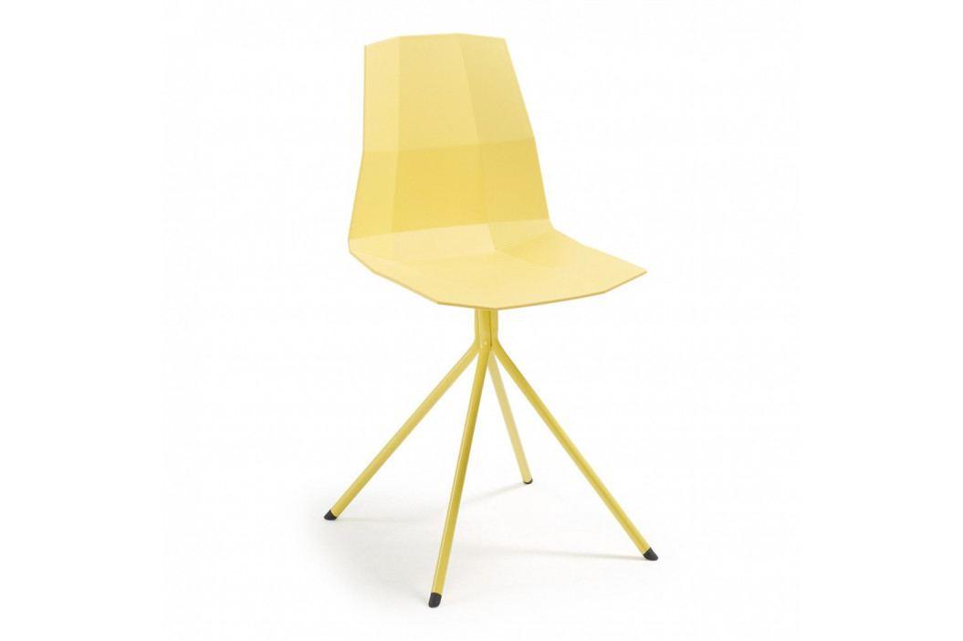 Žltá jedálenská stolička La Forma Pixel
