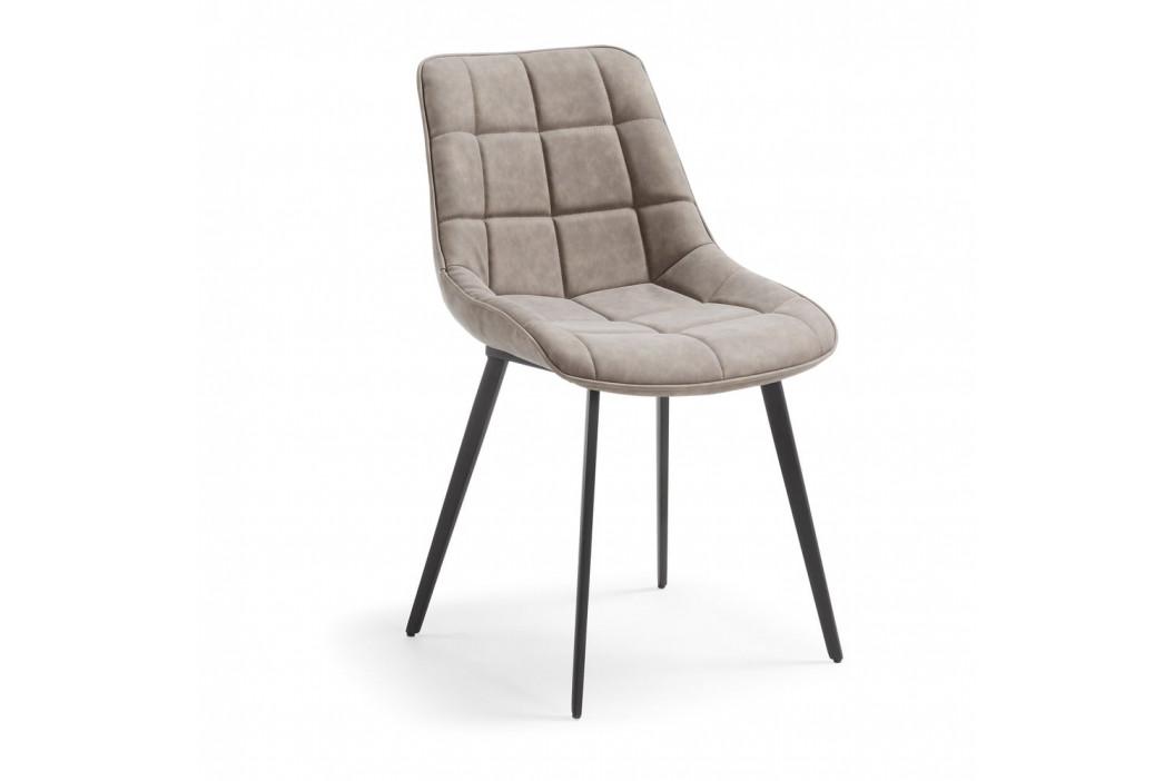 Béžovosivá jedálenská stolička La Forma Adah