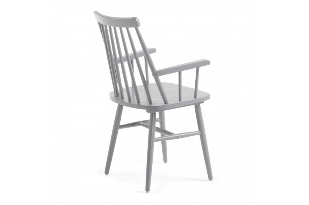 Svetlosivá jedálenská stolička z dreva kaučukovníka La Forma Kristie