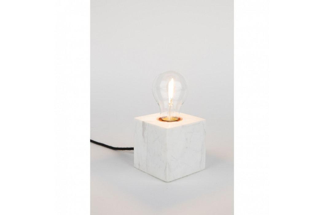 Biela mramorová stolová lampa Zuiver Bolch