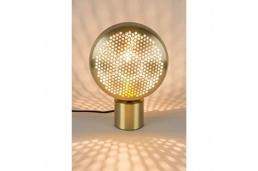Stolová lampa v mosadznej farbe Zuiver Gringo Flat