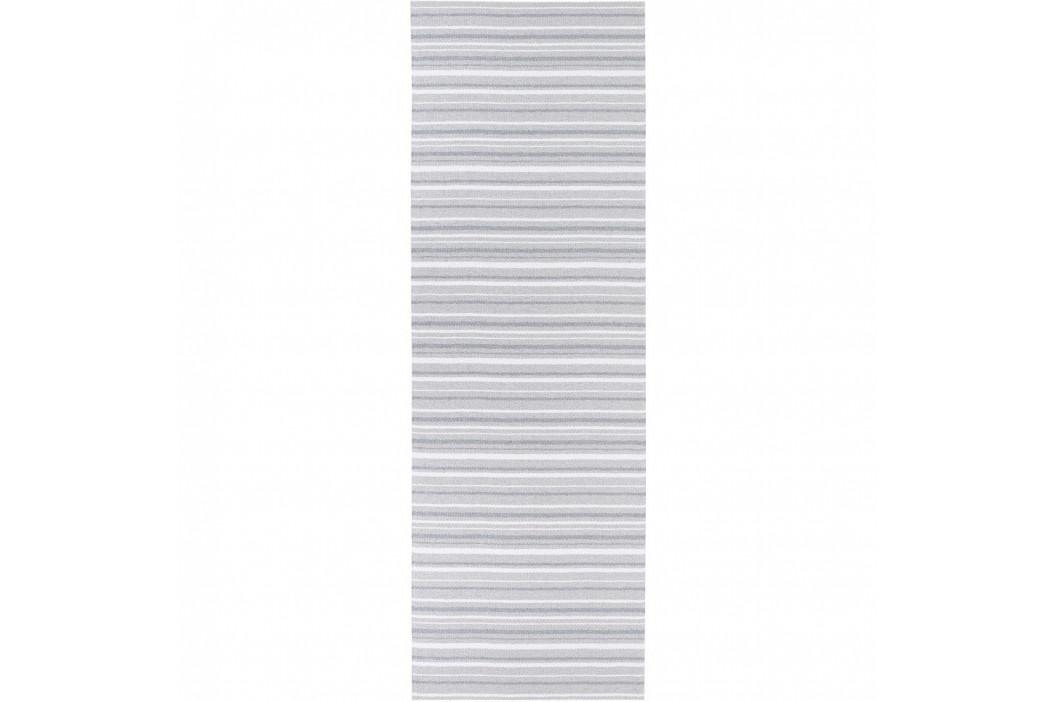 Sivo-biely behúň vhodný do exteriéru Narma Hullo, 70 × 300 cm