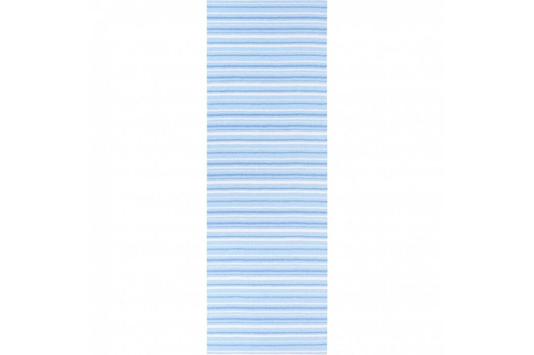 Modro-biely behúň vhodný do exteriéru Narma Hullo, 70 × 350 cm