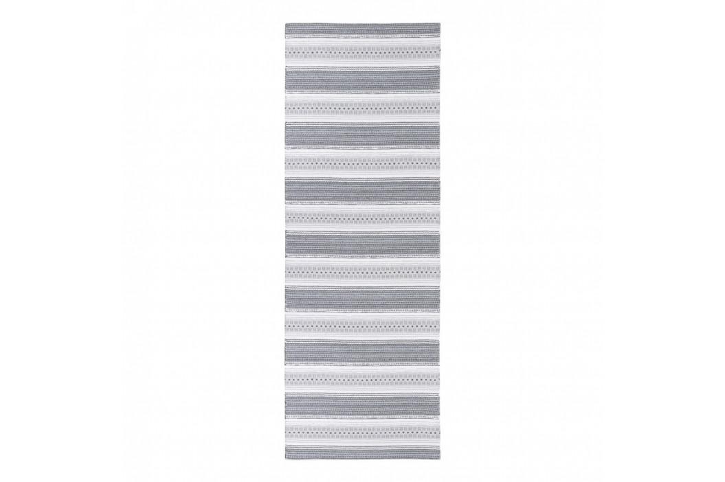 Sivý behúň vhodný do exteriéru Narma Runo, 70 × 300 cm