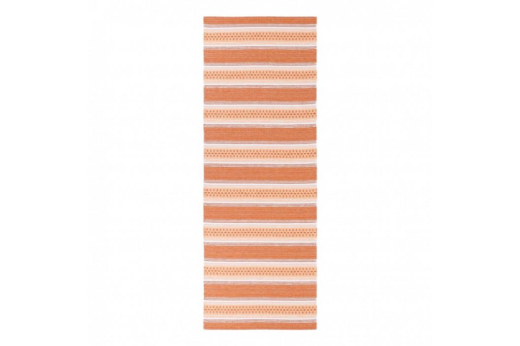 Oranžový behúň vhodný do exteriéru Narma Runo, 70 × 300 cm