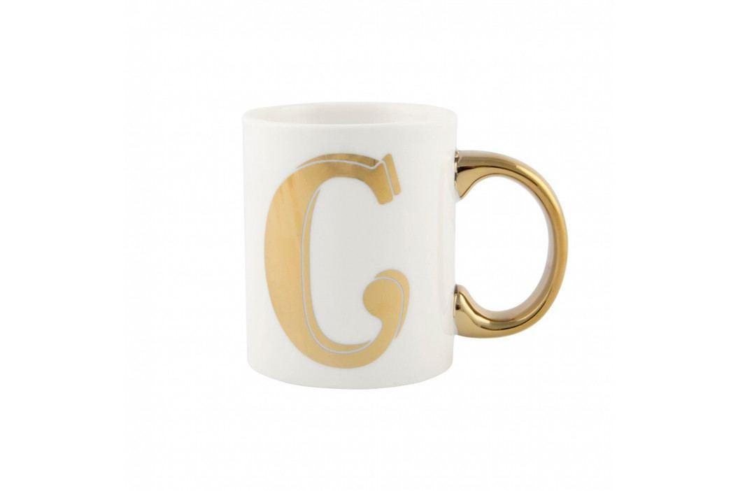 Hrnček Sass & Belle Gold Monogram Letter C