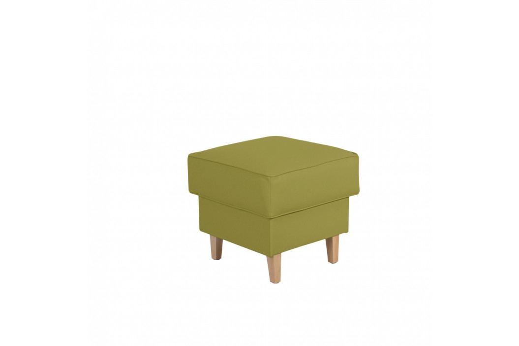 Zelená podnožka Max Winzer Lorris Leather Apple