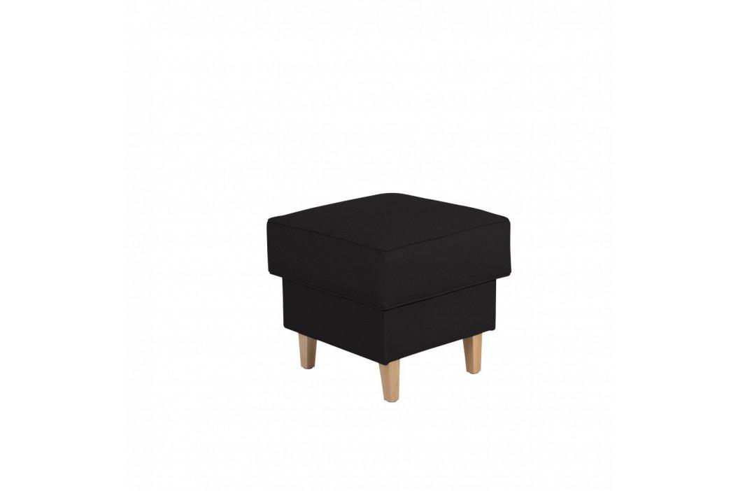 Čierna podnožka Max Winzer Lorris Leather Black