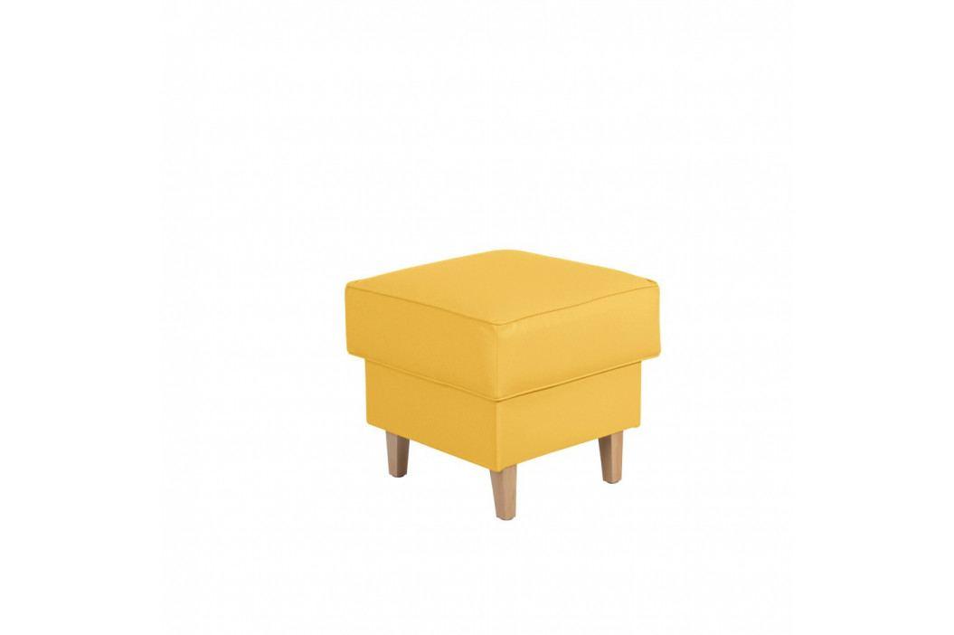 Žltá podnožka Max Winzer Lorris Leather Corn