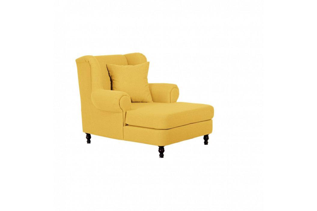 Žlté kreslo ušiak Max Winzer Mareille Yellow