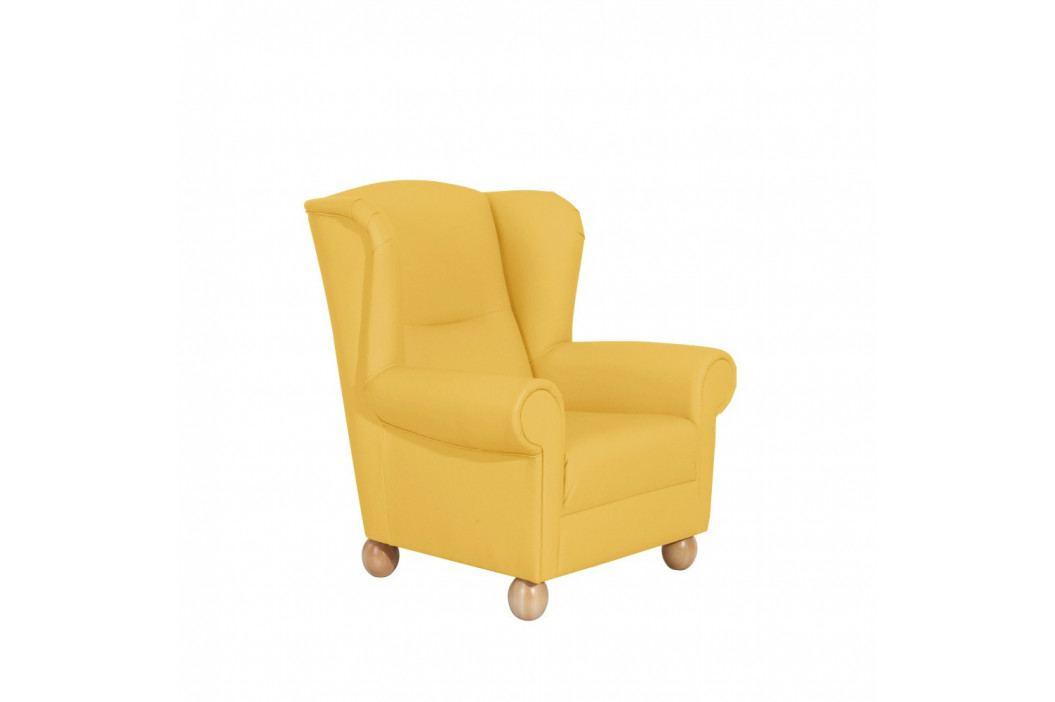 Žlté kreslo ušiak Max Winzer Monarch Yellow