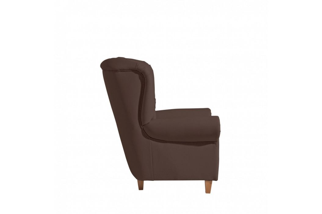 Tmavohnedé kreslo Max Winzer Recliner Vicky Leather Brown