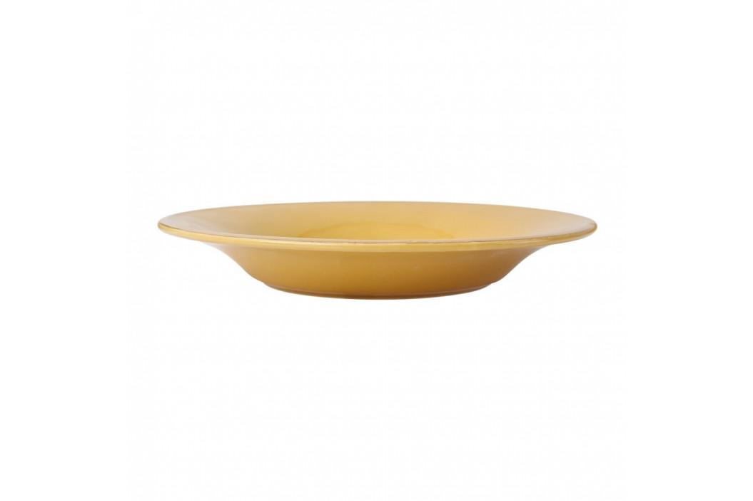 Žltý kameninový polievkový tanier Côté Table Const, ⌀27cm