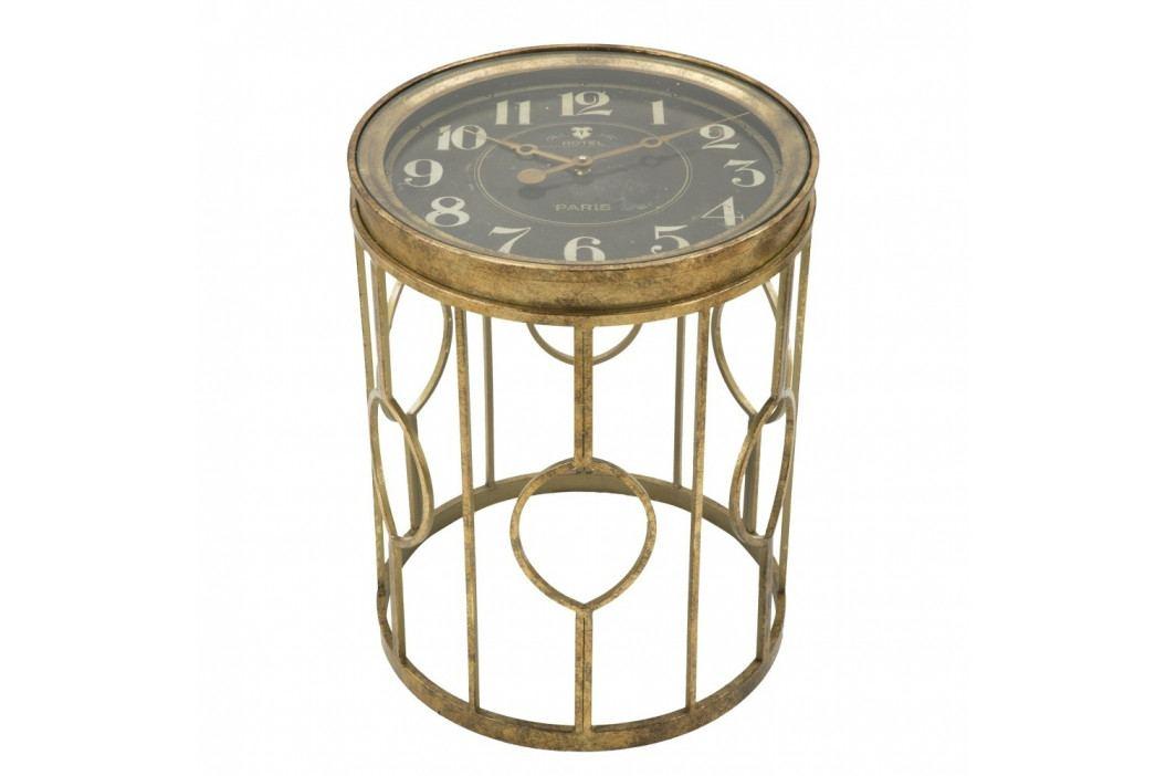 Odkladací stolík s hodinami Mauro Ferretti Tavolo, ⌀41,5 cm
